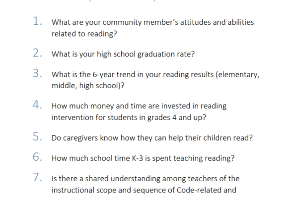 Critical Questions to understand the literacy needs of your community Thumbnail