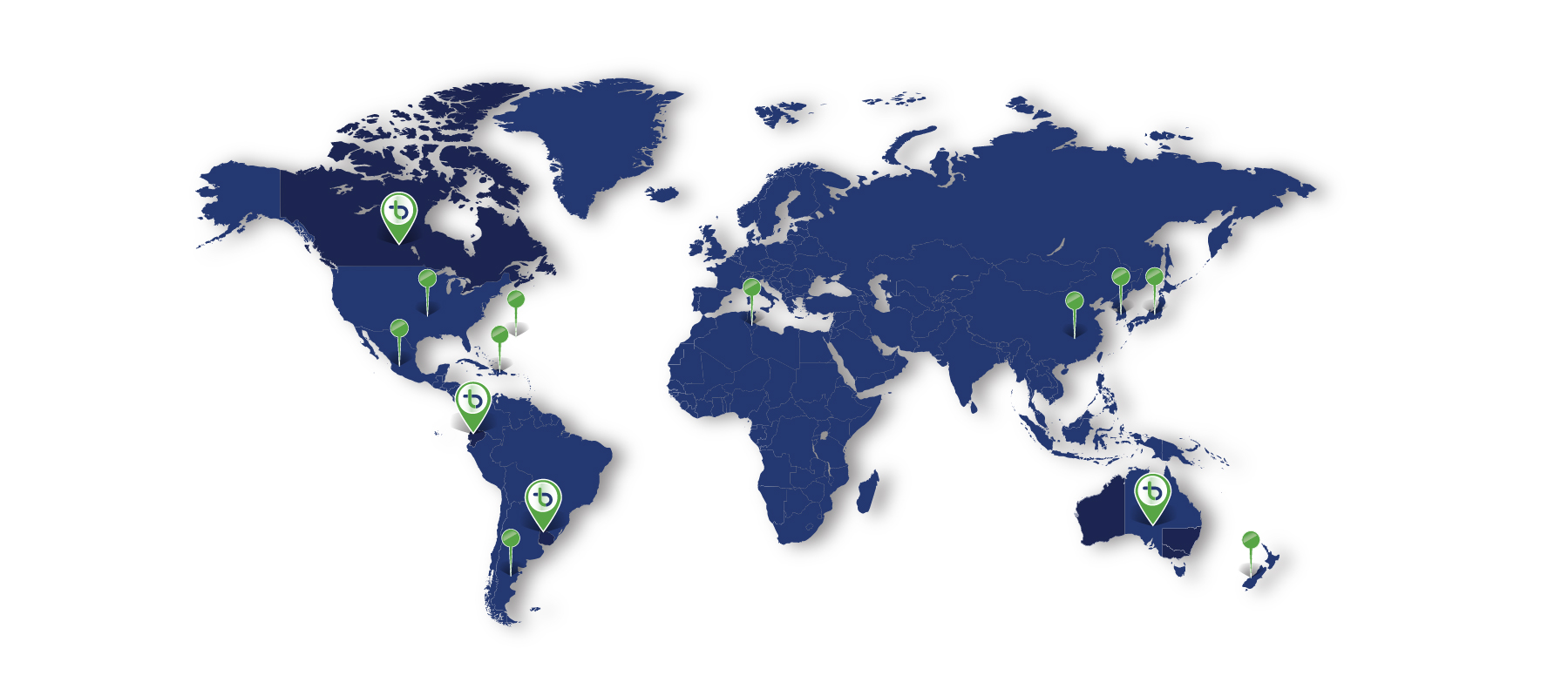 About us - Map of projects around the world